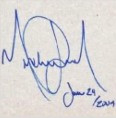 In vendita l'ultimo autografo di Michael Jackson 261jcqe