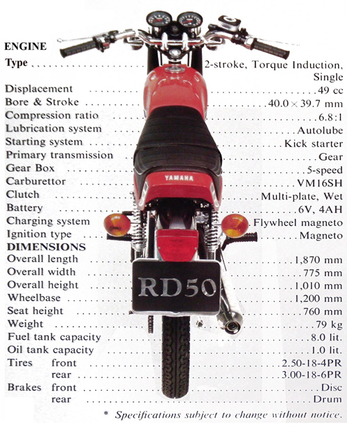 Proyecto racing: Yamaha RD-50 Sd020l
