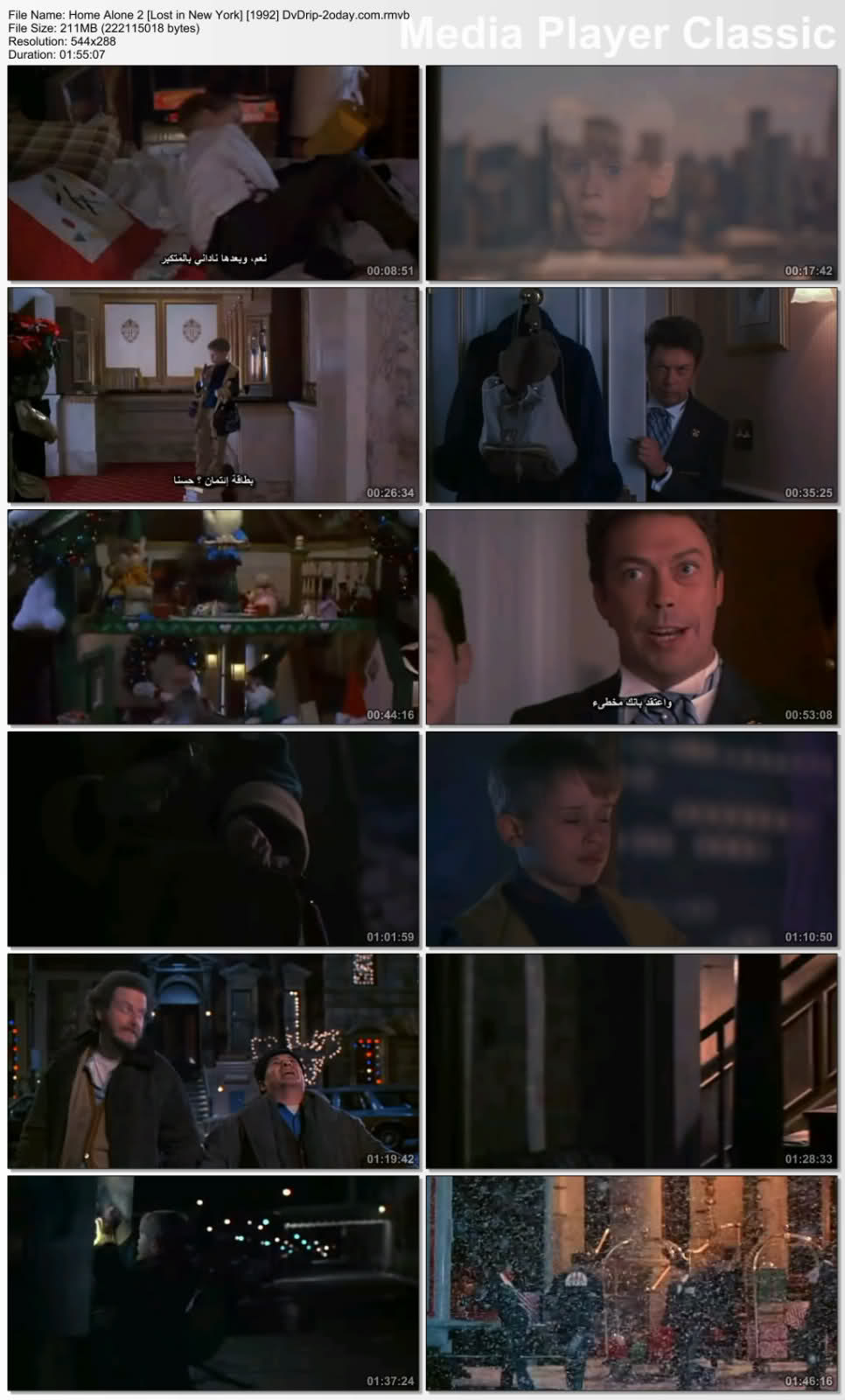 Home Alone quatrain DVDRip سلسلة وحدى فى المنزل كامله ومترجمة Zlrhua