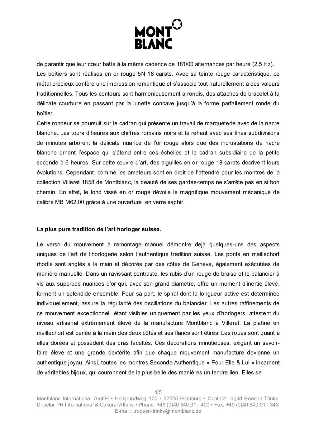 SIHH 2013 MONTBLANC Villeret Seconde Authentique 168hlxw