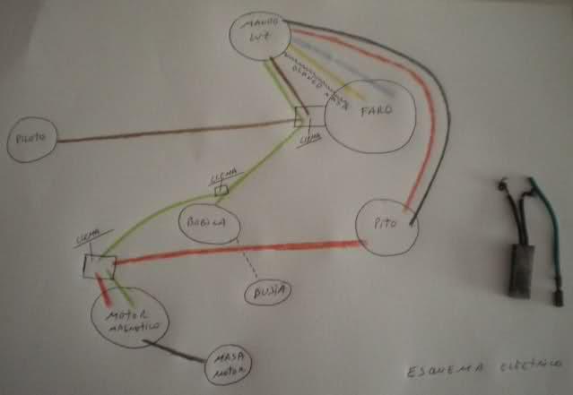 Instalación eléctrica Derbi Antorcha 1gge86