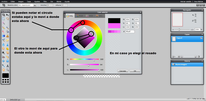Tutorial: Como cambiar el color en Pixlr 257qdzr