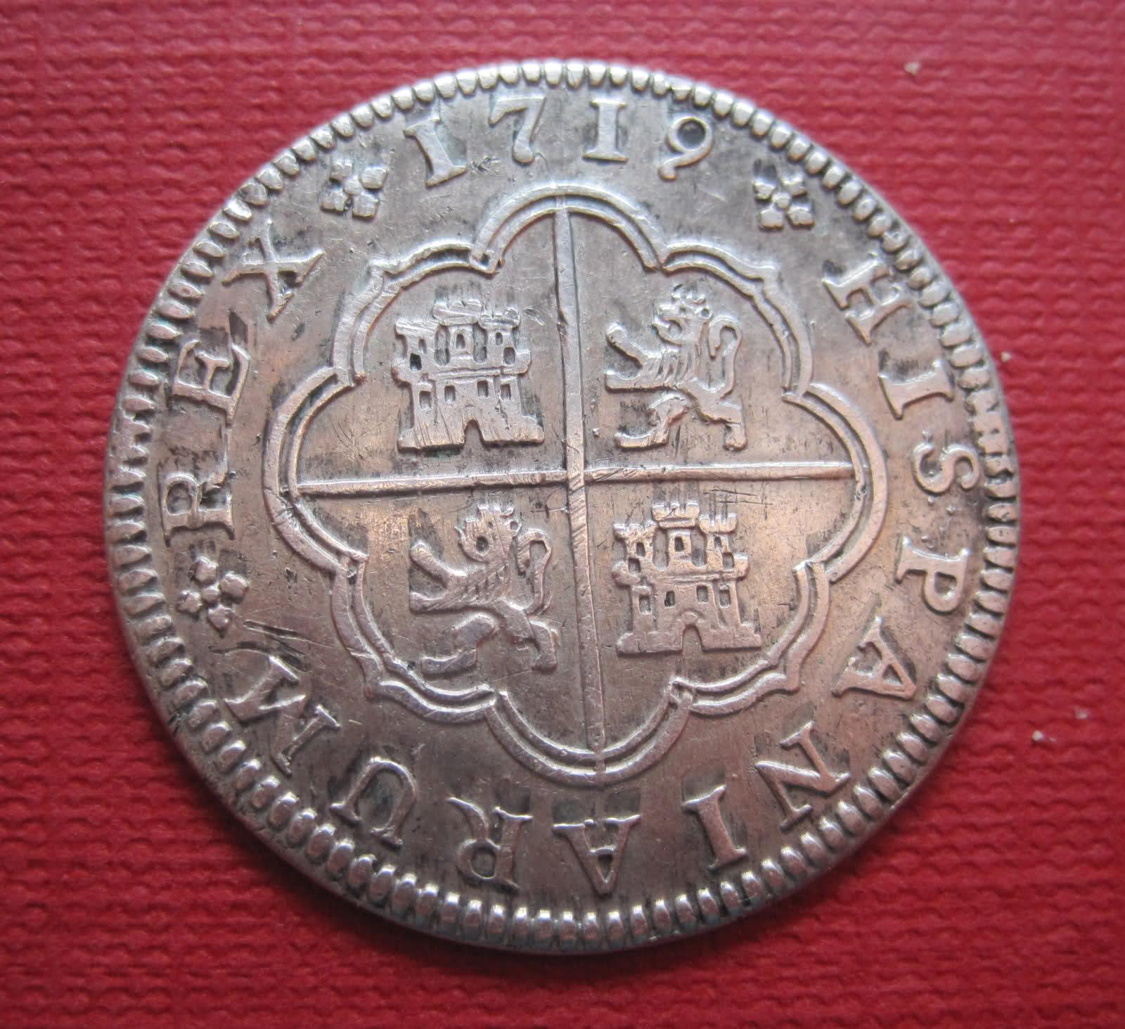 2 Reales de Felipe V 1719 Ceca Segovia 28jcztz