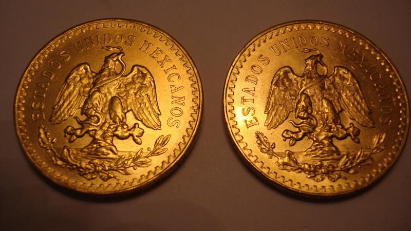 50 Pesos de Oro Mexicanos 1821-(1946/1947)  2vt390o