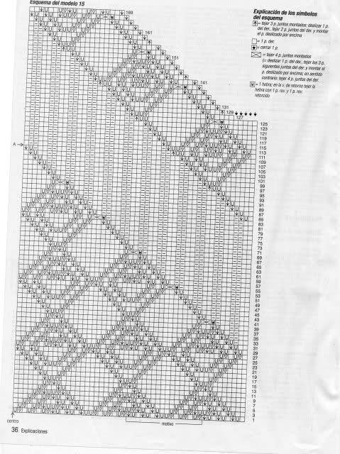 puntos - Puntos  calados  en dos agujas. 95vi0x