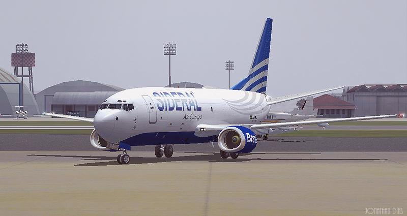 (Photoshop) Boeing 737 -300F | Sideral Air Cargo - SBBR - SBGL Sdl187