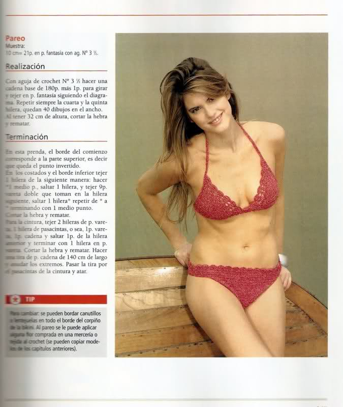 patrones de bikinis/bañadores mujer a crochet Wa4pxj