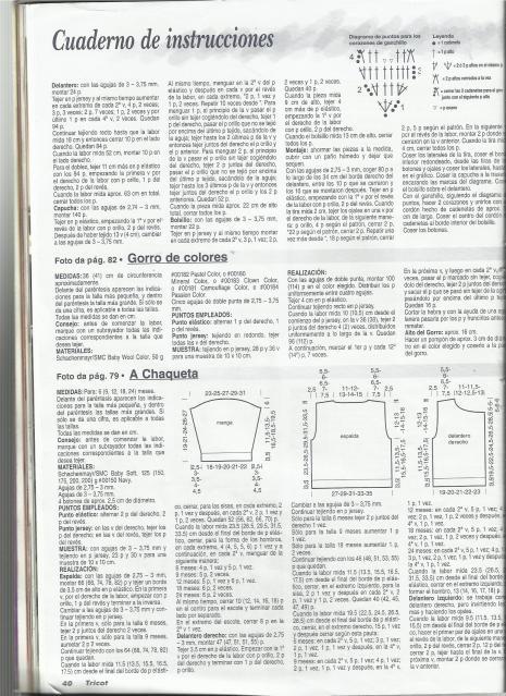Patron para tejer ARRULLO O SAQUITO PARA BEBES 21acsc1