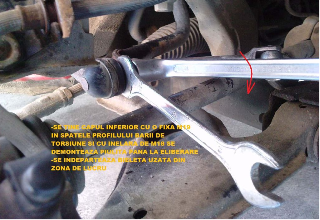 Tutorial inlocuire bieleta antiruliu Astra G Hatch 2ex51ti