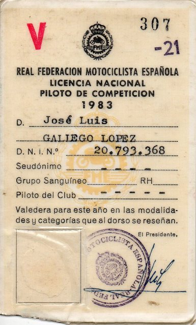 gilera - Antiguos pilotos: José Luis Gallego (V) 2lscll5