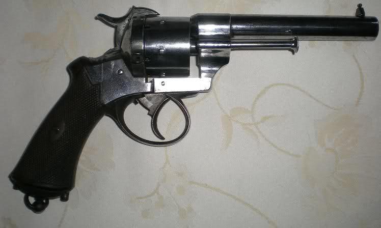 Restauration d'un petit revolver type Lefaucheux 3354fon