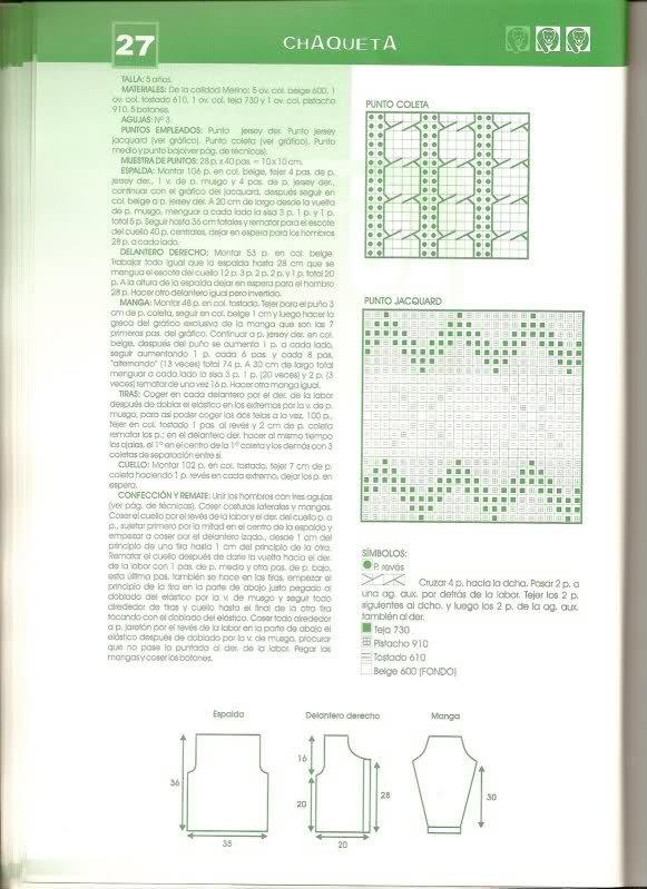 patrones - busco patrones para chaqueta niña 33f84di