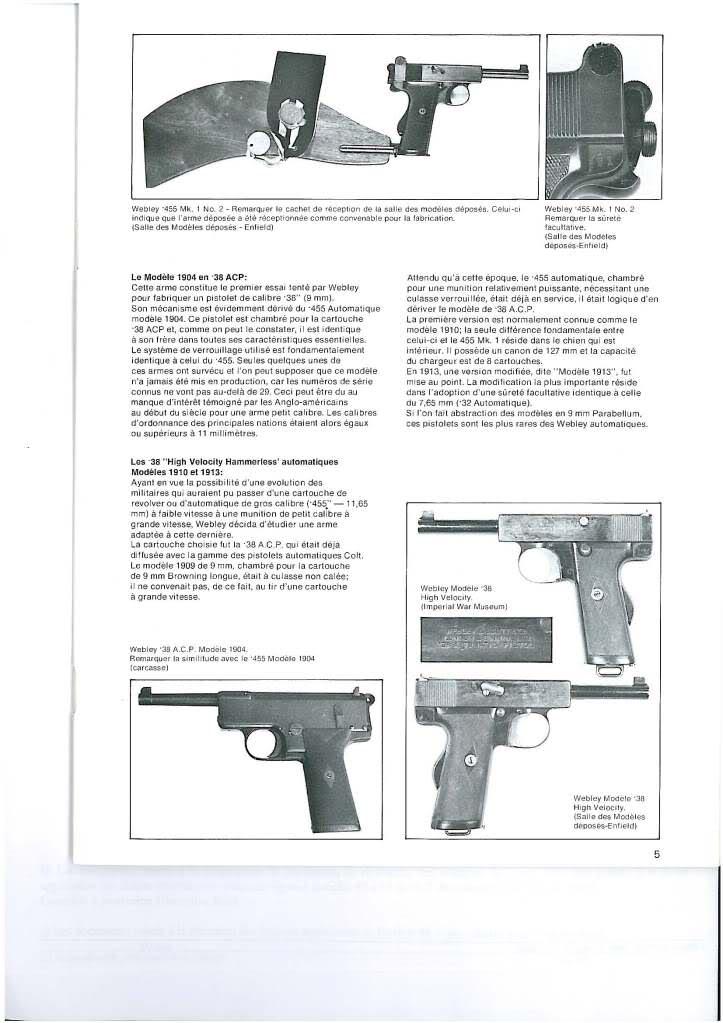 pistolets automatiques webley & scott 33jstft