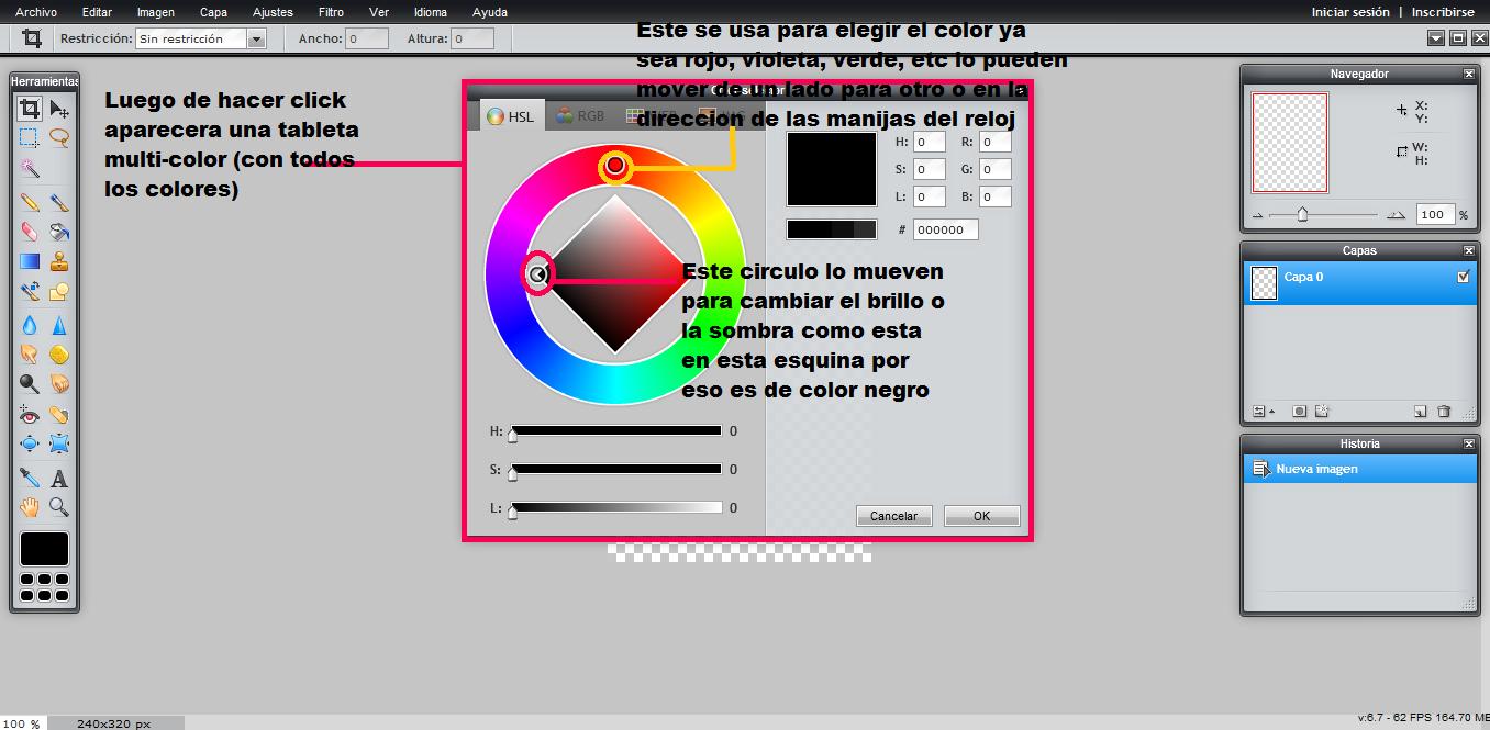 Tutorial: Como cambiar el color en Pixlr E707eo