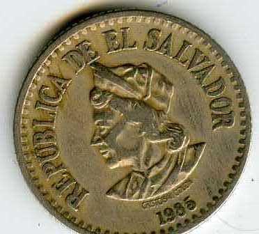 República de El Salvador - dos monedas de 1 Colón (suegra) de 1984 y 1985 N6yux3