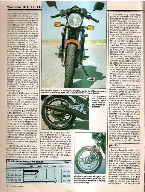 Yamaha RD350: la viuda negra 10zcobm