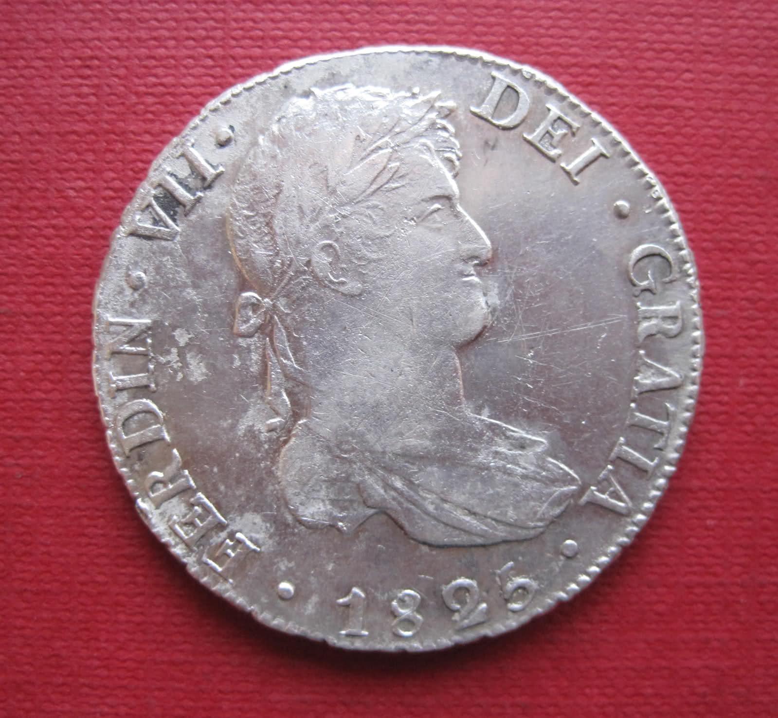 8 Reales 1825. Fernando VII. Potosí. 15driau