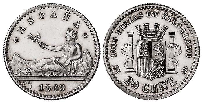 Estudio monográfico: Las monedas en el reinado de Amadeo I (1871-1873) 15nlr2b