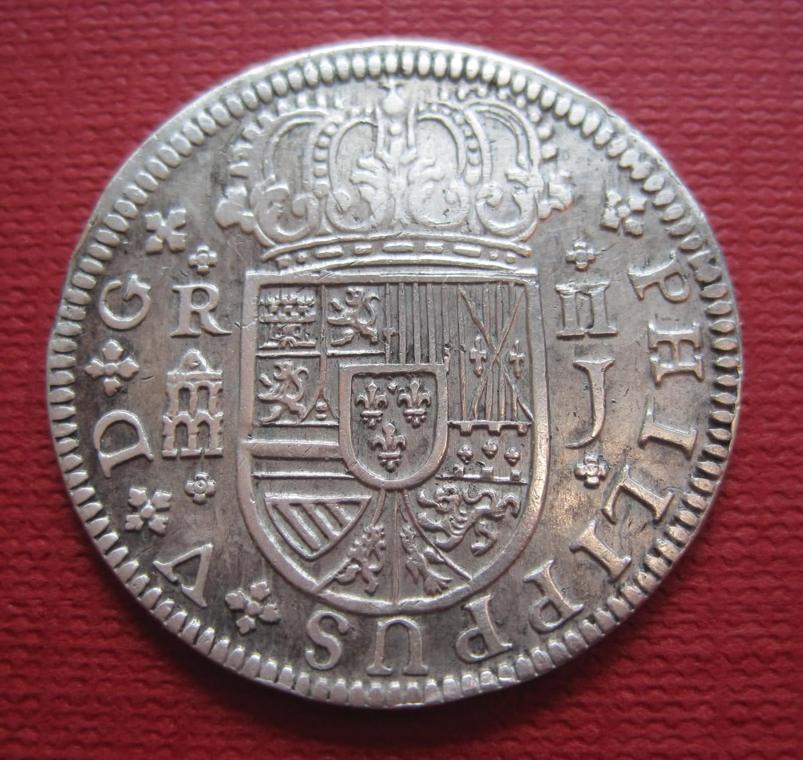 2 Reales de Felipe V 1719 Ceca Segovia 1zd8178
