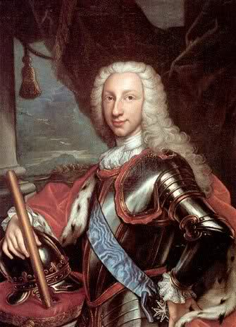 120 Granas 1750. Carlos VII de Nápoles. El cordoncillo napolitano de ultramar. 2mgv91g