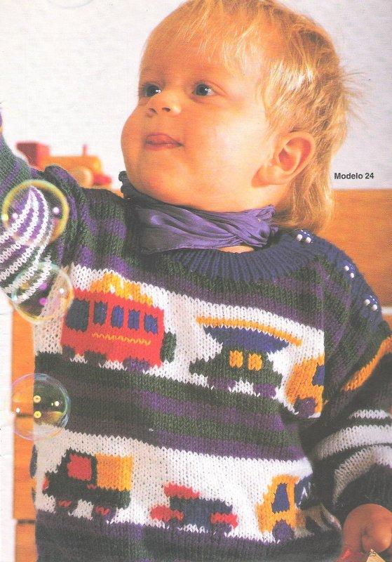 patron - patrón de niño con jacquard 2ng4oec