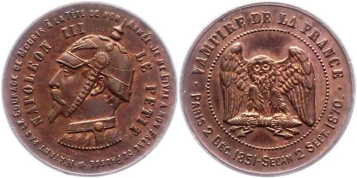 Post II: Medalla Satírica Napoleón III. Fin del II Imperio Francés. Sedán 1870. 2uema6v