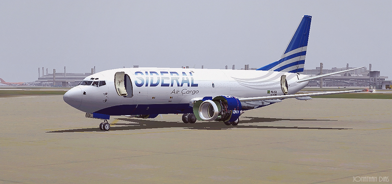 (Photoshop) Boeing 737 -300F | Sideral Air Cargo - SBBR - SBGL 2ztly02