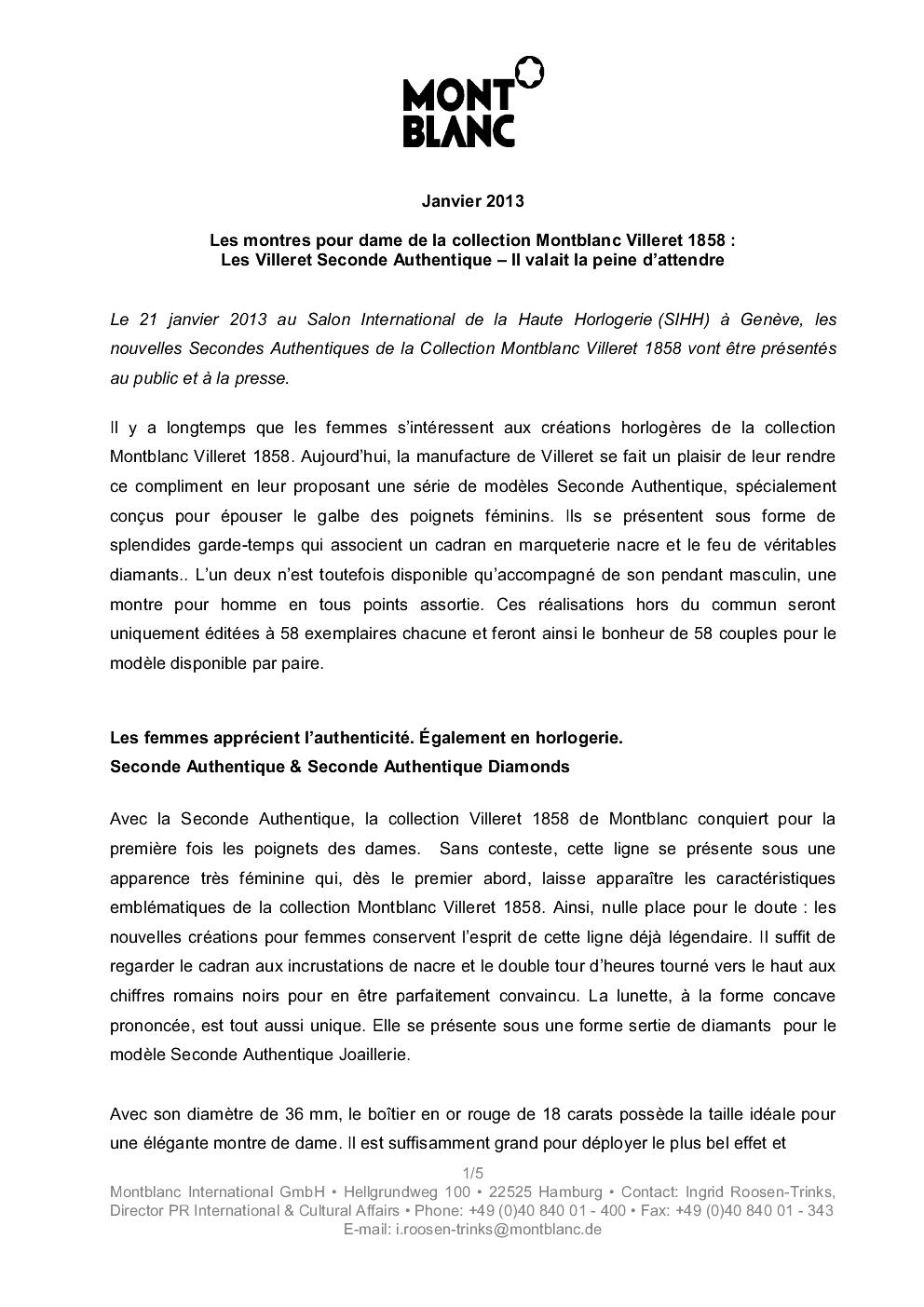 SIHH 2013 MONTBLANC Villeret Seconde Authentique Ji1f92