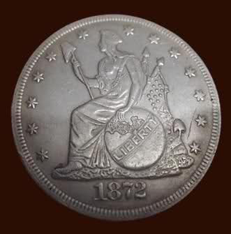 Un Trade Dólar de 1872 (Dólar de Comercio) de los Estados Unidos. 28sx1y9