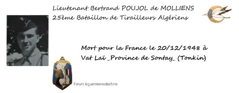 Lieutenant Bertrand POUJOL de MOLLIENS 25è BTA MPLF 1948 2eo9s2d