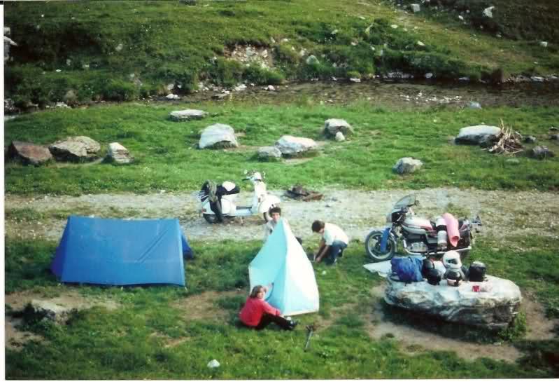 Aquel viaje del año 1.983: Murcia-Pirineos en Vespa Juz79z