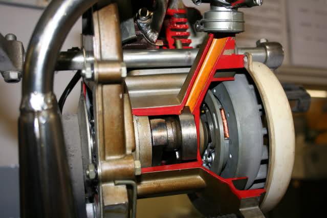 Motor Vespino seccionado Mkjaeh