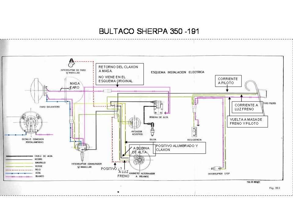 Instalación eléctrica Bultaco Lobito T Mt1l6r