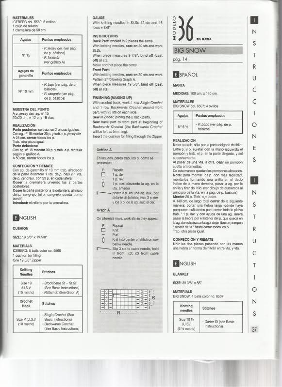 PATRONES DE FRAZADAS O MANTAS PARA TEJER (A petición de Santi) 20kx99f