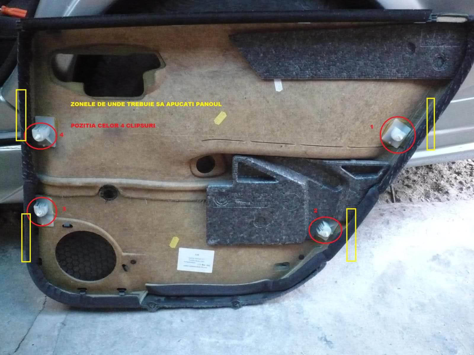 Tutorial demontare/montare geam usa spate Vectra B 250nrrt
