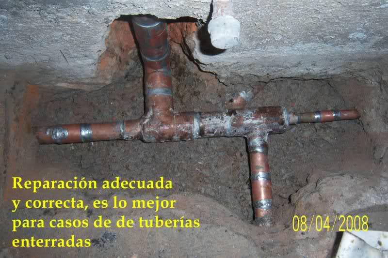Reparación de tubo roto con coples de compresión 2duzgo