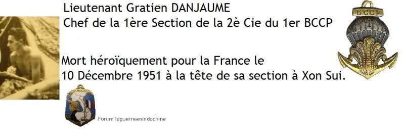 Lieutenant Gratien DANJAUME 1er BCCP MPLF 1951 2nlhdsm