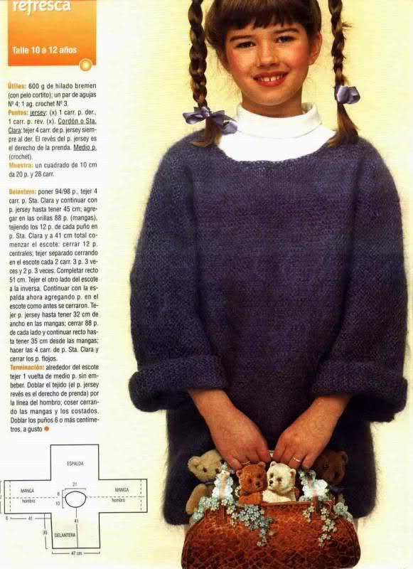 niña - Busco patron para una chaqueta niña de 10 años 2nuln3n