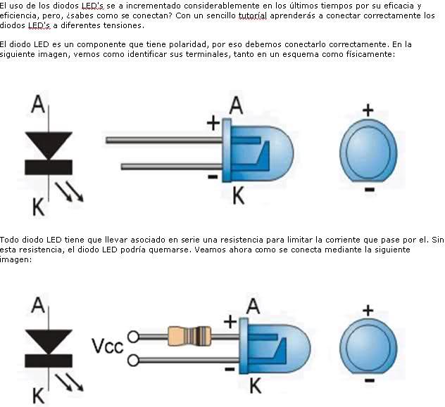 tablas practicas para conectar leds a 12v y 5v 2s0h5af