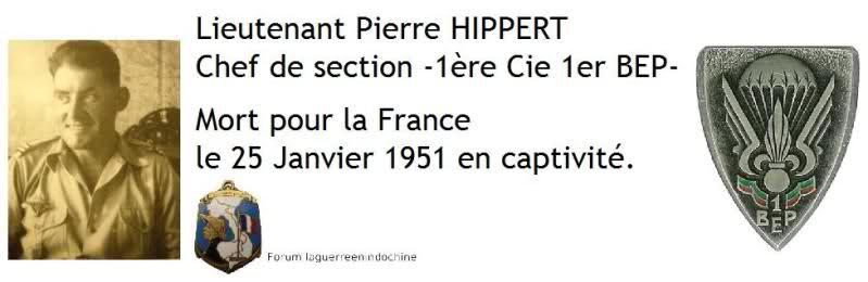 Lieutenant Pierre HIPPERT 1er BEP MPLF 1951 Zkjxgg