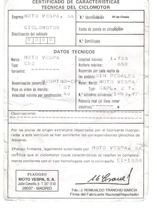 Matriculacion de ciclomotor del '96 Conseguida! 14lkoys