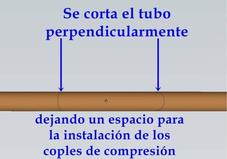 Reparación de tubo roto con coples de compresión 2vtnvjr
