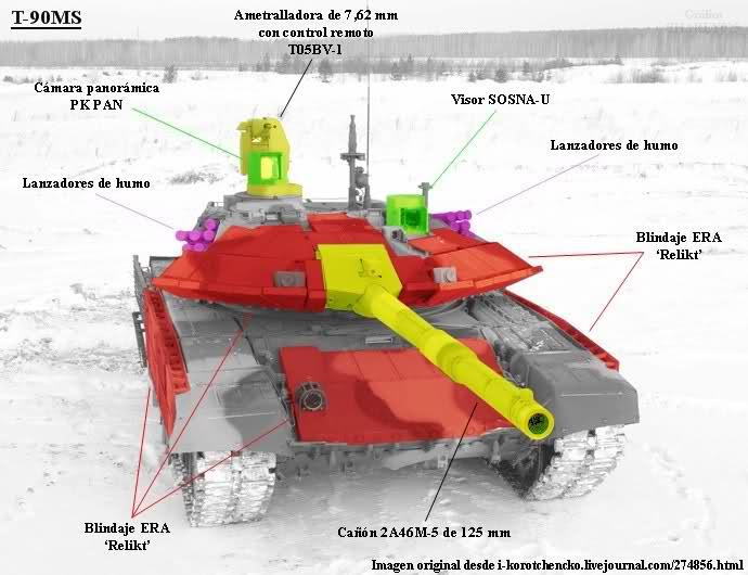 El tanque ruso T-90 Oucltz