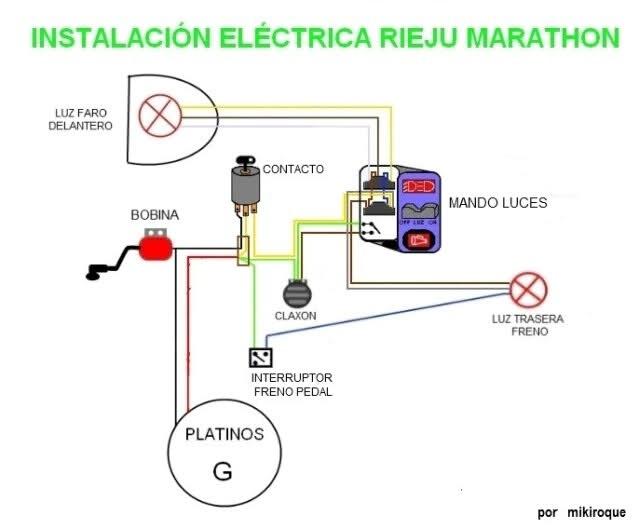 Instalación Eléctrica de mi Rieju Marathon 10e3k00
