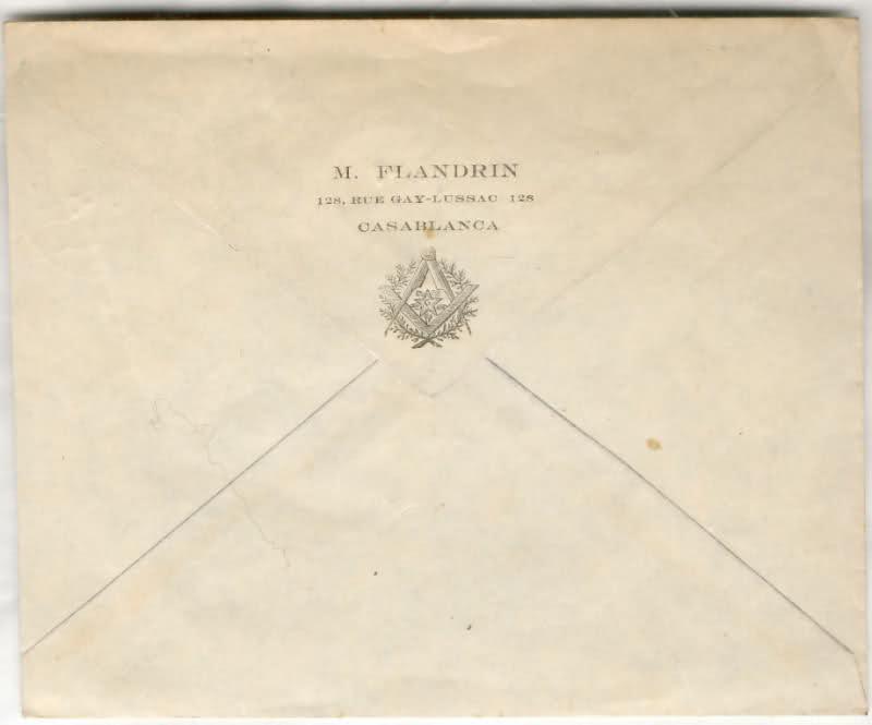 ENVELOPPE POSTE NAVALE RF à CASABLANCA 1944 11cb620