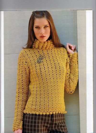 Crochet - Sueter de mangas cortas Ta2c8w