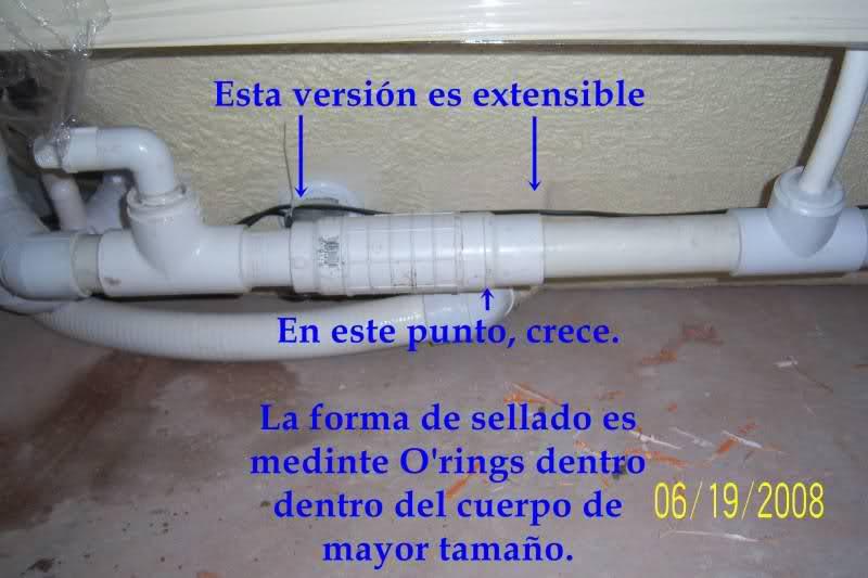 Reparación de tubo roto con coples de compresión Wbytlh