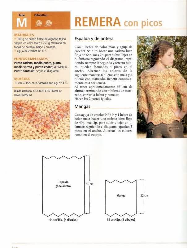 Crochet - Sueter de mangas cortas 20p7vcy