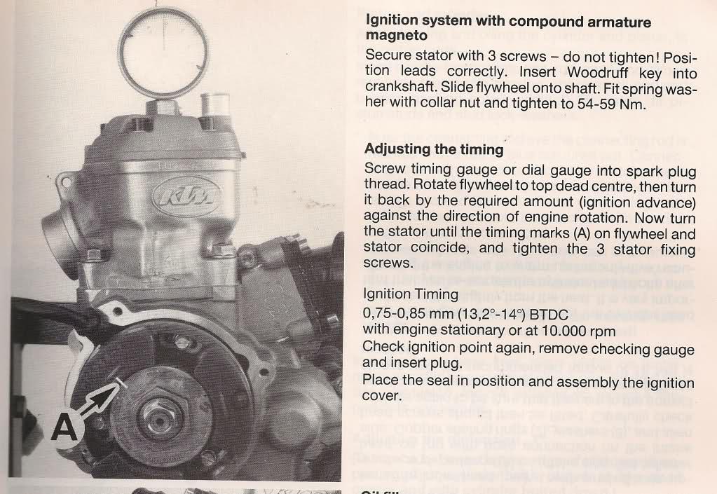 Calado de encendido KTM 80 2chrnuo