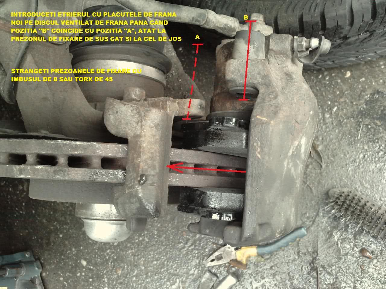 Tutorial inlocuire placute de frana pe fata la Vectra B. 2hf15x4
